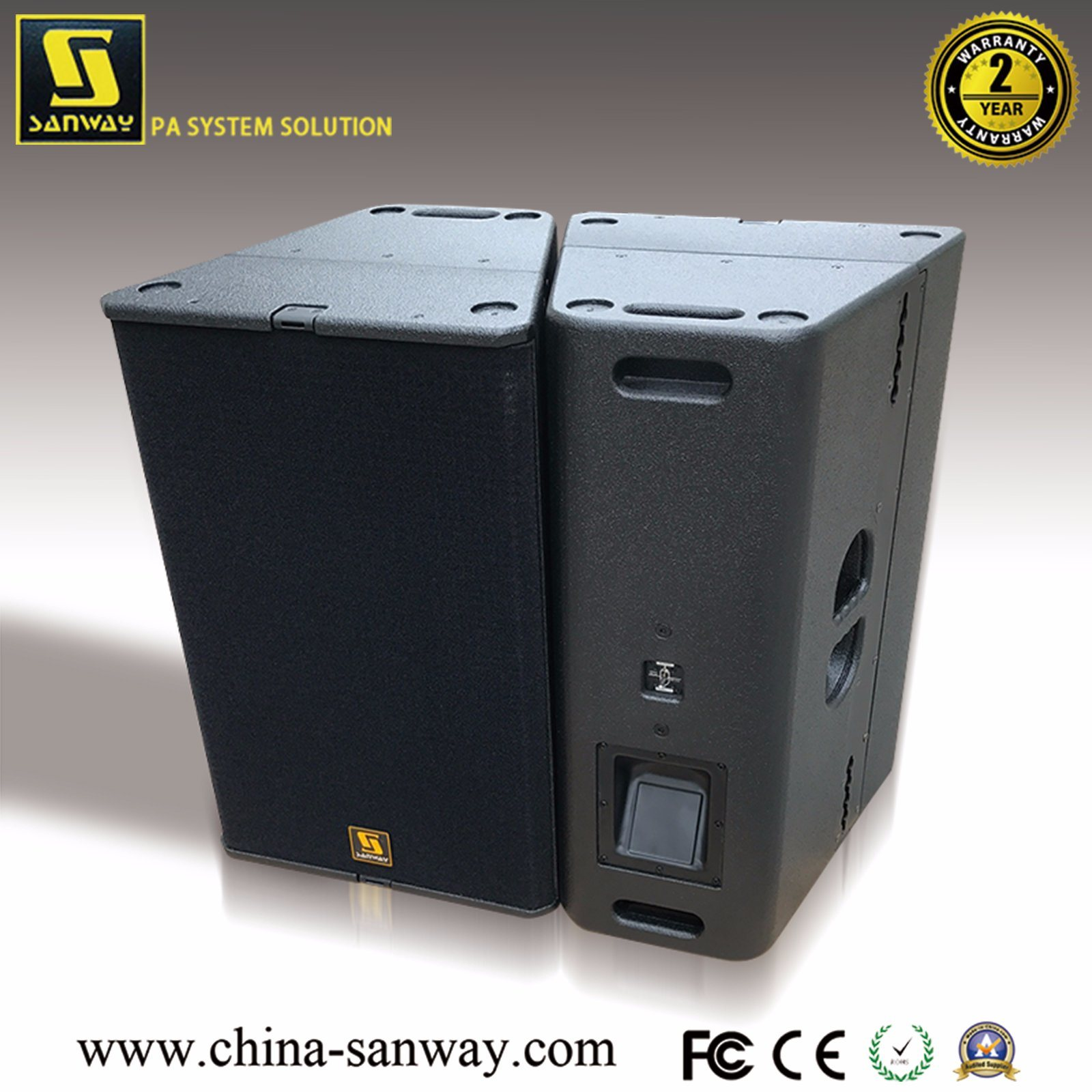 China T24n Dual 12′′ Bi-AMP/Passive Switch Professional Line Array ...