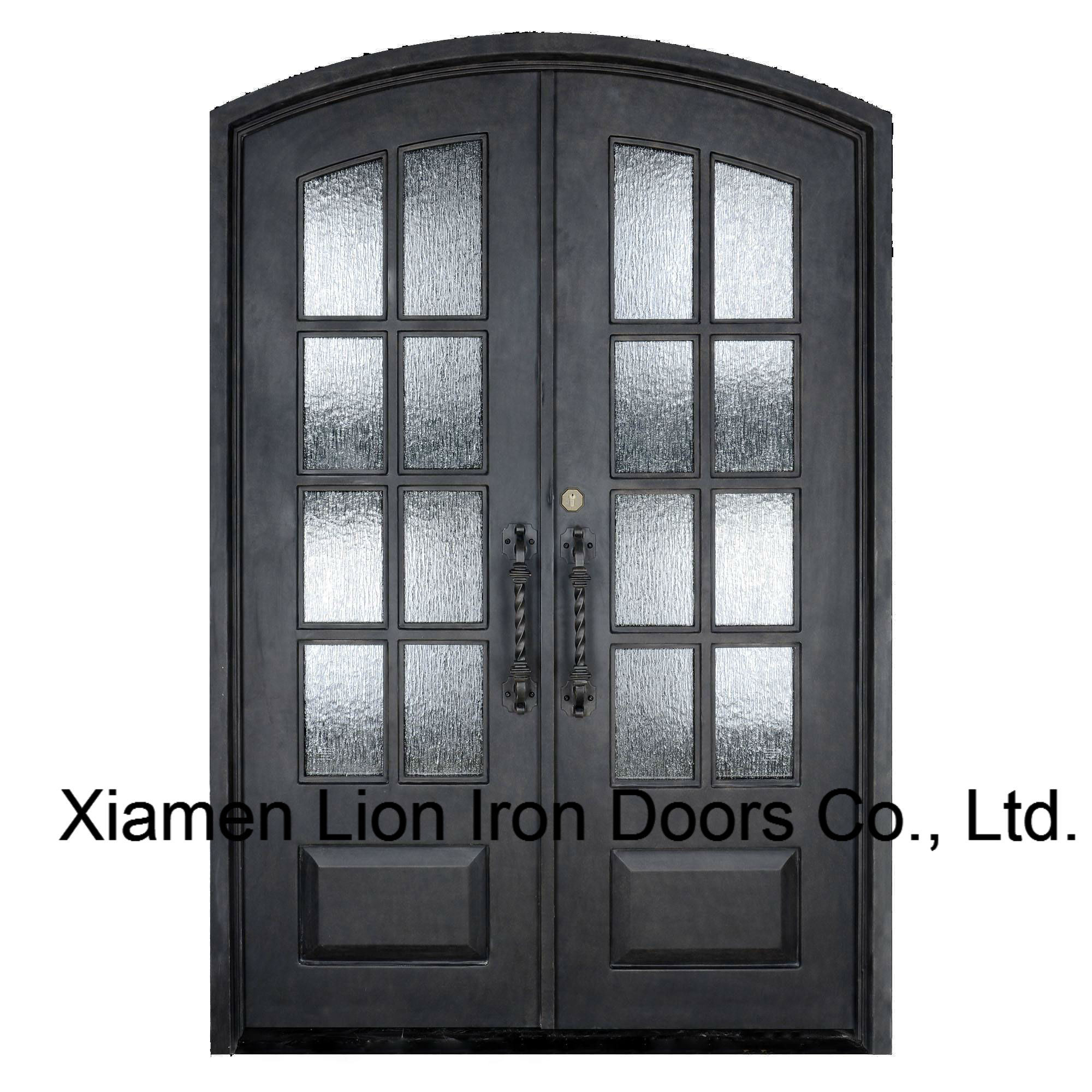 Strong Durability Iron Entry Door with Tempered Rain Glass Design  sc 1 st  Xiamen Lion Iron Doors Co. Ltd. & China Strong Durability Iron Entry Door with Tempered Rain Glass ...