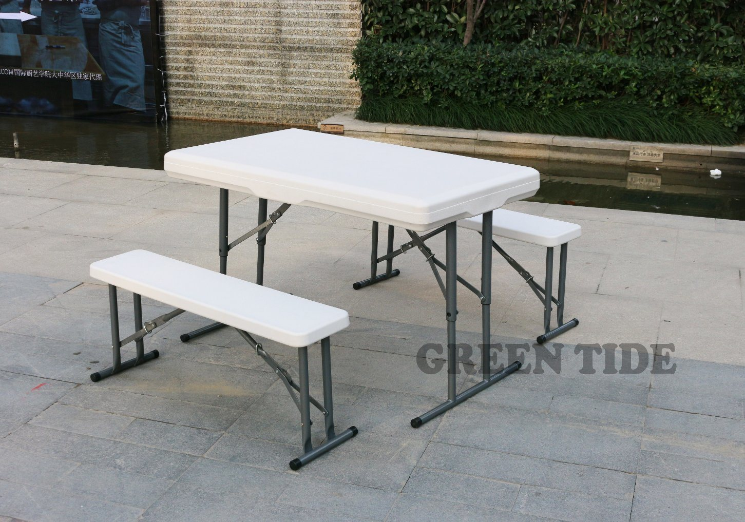 Etonnant China Outdoor Furniture Camping HDPE Plastic Blow Molded Folding Table And  Chair Set   China HDPE, Blow Molded