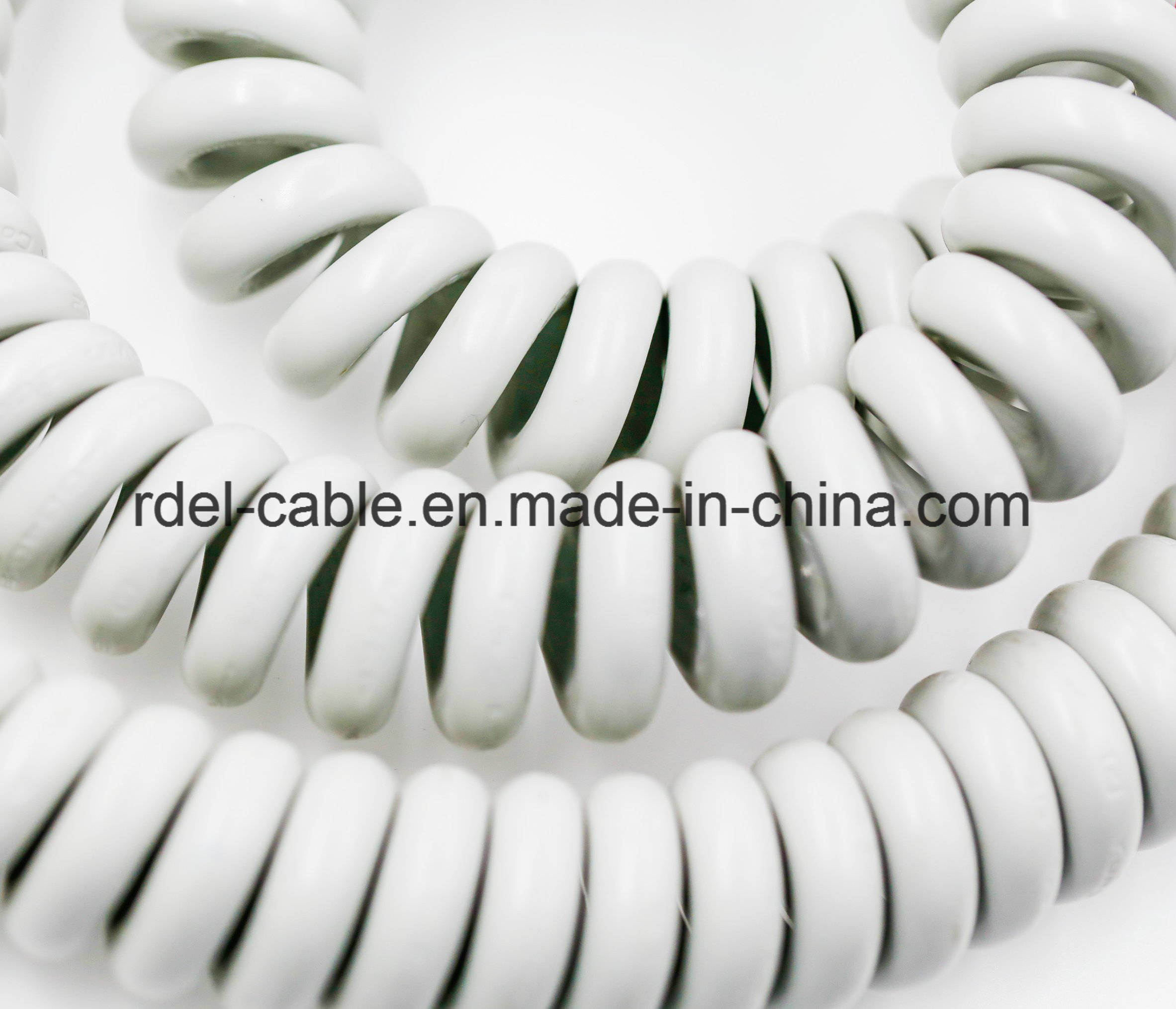 China 2 /3 /4 /5 / 6 / 7 Core PVC/PU Spiral Cord Coiled Cable ...