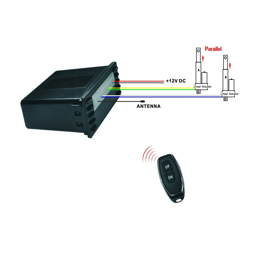 Wireless Control System for 2 Linear Actuators Working in Parallel