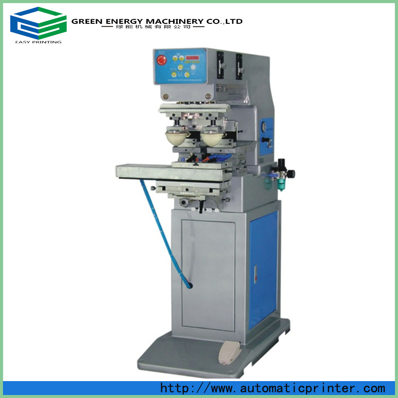 China Pneumatic Pad Printing Machine with Shuttle/Two Color