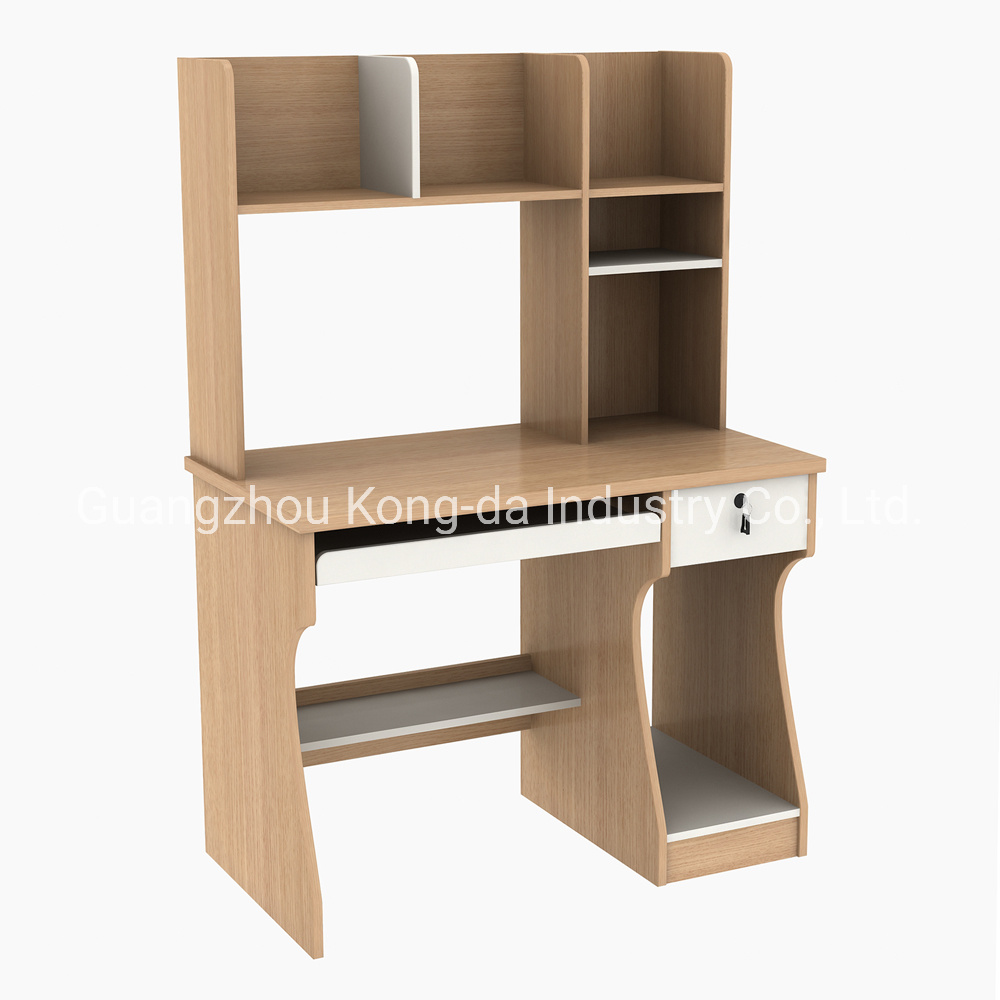 [Hot Item] Home Furniture Wooden Computer Desk with Bookshelf