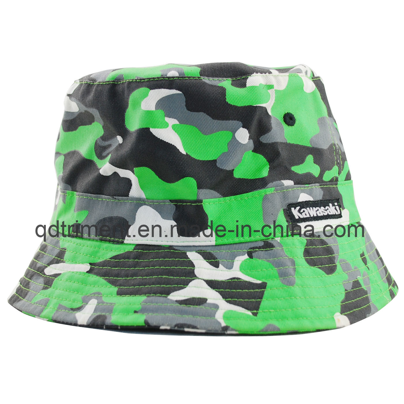 Flower Print Cotton Woven Plain Cloth Leisure Bucket Hat (TRBH14002)