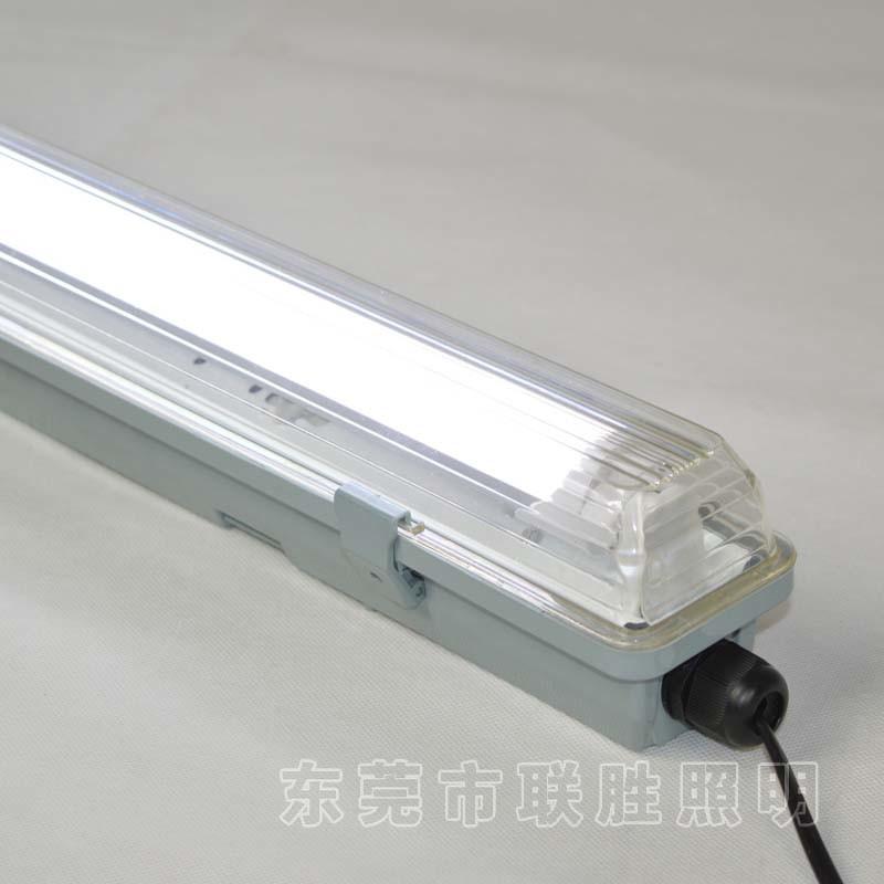 China Single Tube LED Waterproof Lamp PC Cover Waterproof Hanger Mounted T8  Lamp Holder   China LED Bracket, IP65