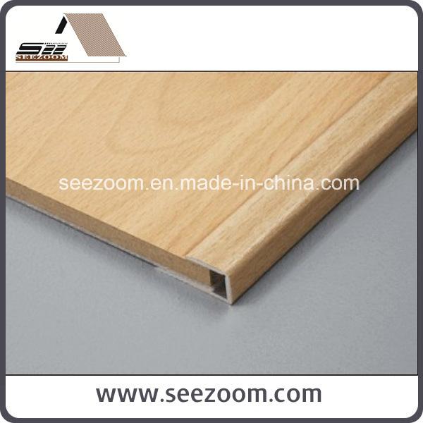 China Aluminum Aluminium Wood Laminated Floor Tile Edging Trim