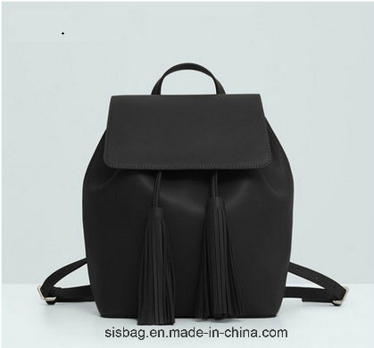 New Designer PU Tassel Student Backpack Leisure School Bag pictures & photos