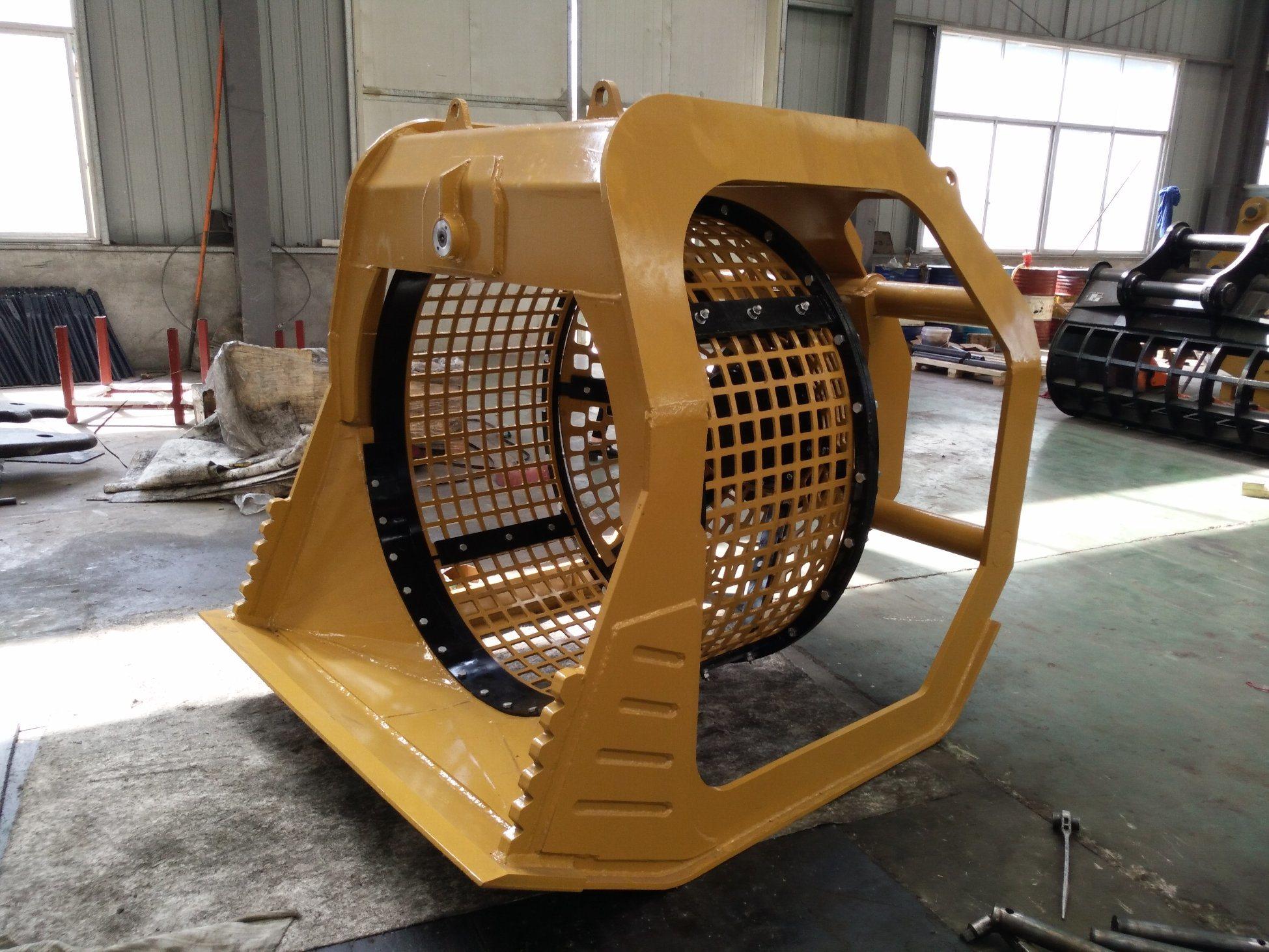 [Hot Item] 20ton Hydraulic Sieve Bucket Rotary Screening Bucket for  Excavator