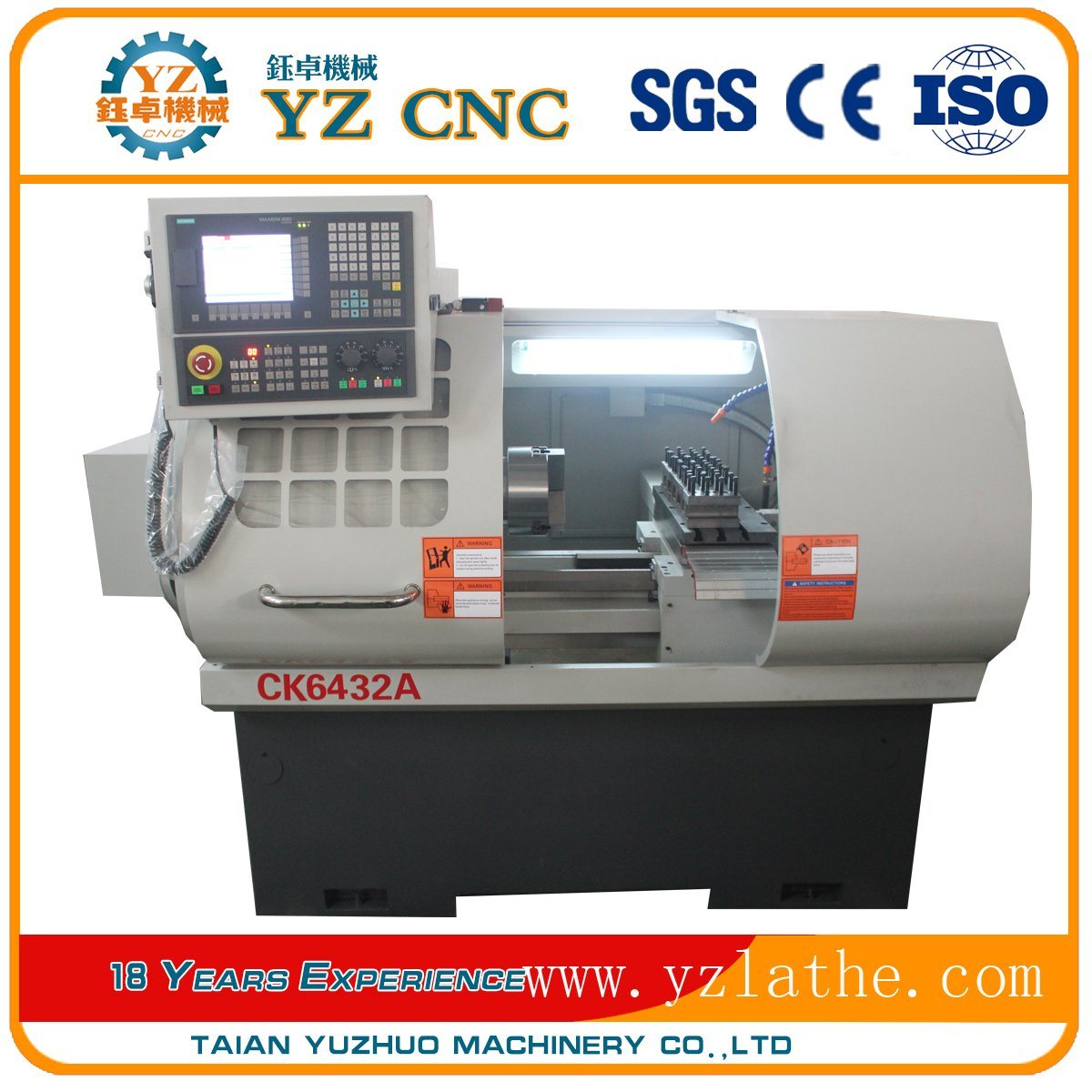 Ck6432A Horizontal Flat Bed High Quality CNC Lathe Machine Machine Tools