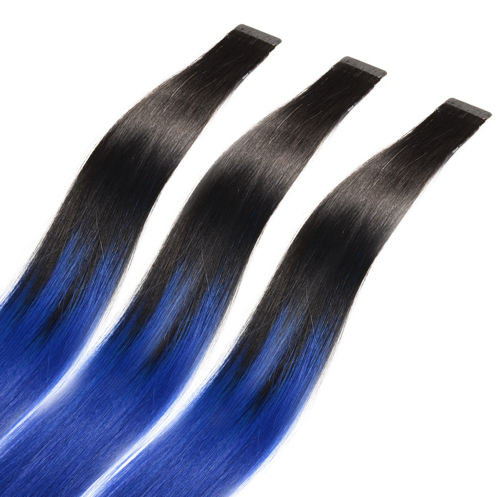 China Ombre Tape Hair Keratin Seamless Double Drawn Skin Weft Hair