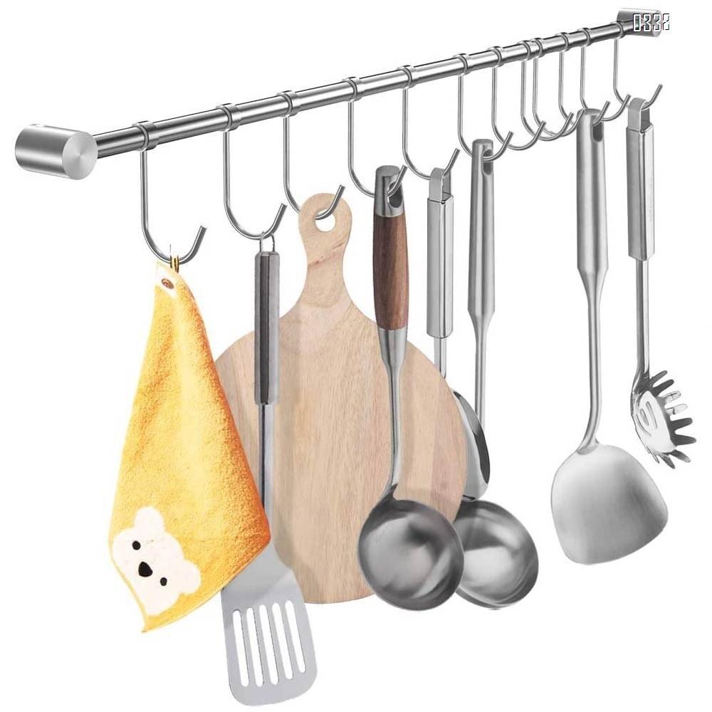 Hooks Hangers 10 20x Stainless Steel Metal S Hooks Kitchen Utensil Hanger Cloths Hanging Rail Home Garden
