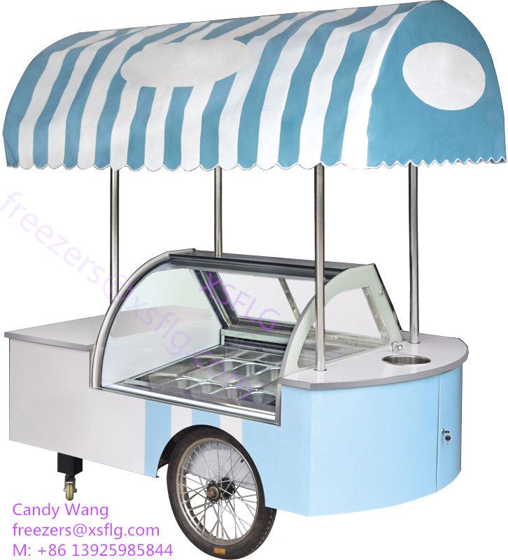 Ice Cream Cart For Sale >> China Italian Ice Cream Gelato Push Carts Kiosk With Wheels For Sale