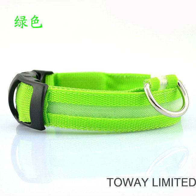 Grid Buckle Quality Pet Products Classic LED Dog Collars pictures & photos