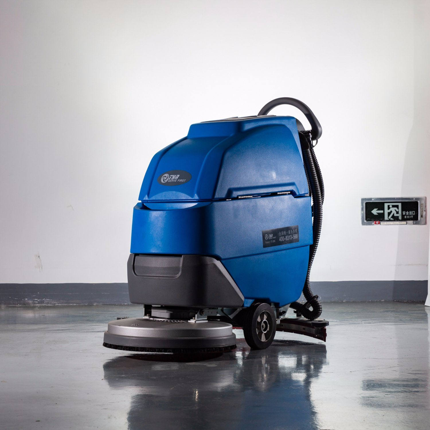 China Corded Automatic Floor Scrubber Automatic Scrubbing Machine With Cable China Floor Scrubber Floor Cleaning Machine