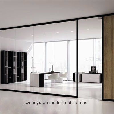 Cheap Price Office Use Aluminum Frosted Glass Partitions