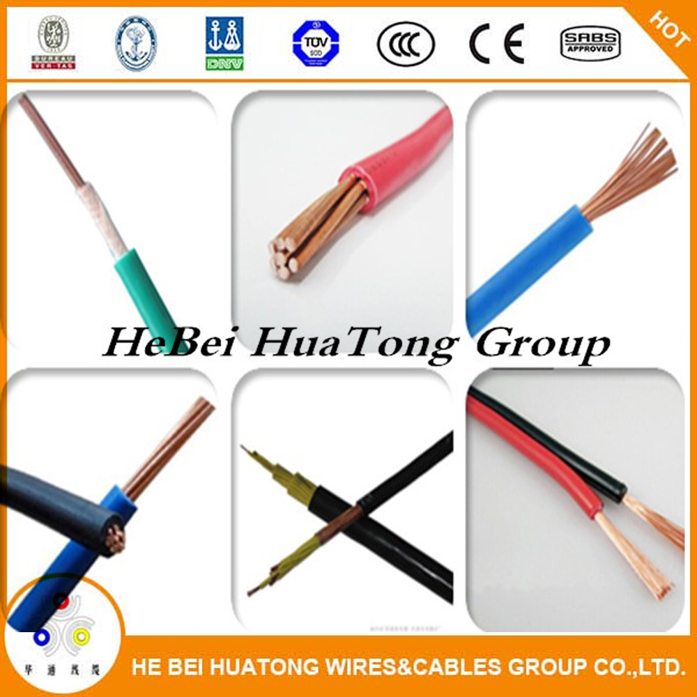 China Copper Solid Conductor PVC Insulation Colorful Electric Wire ...
