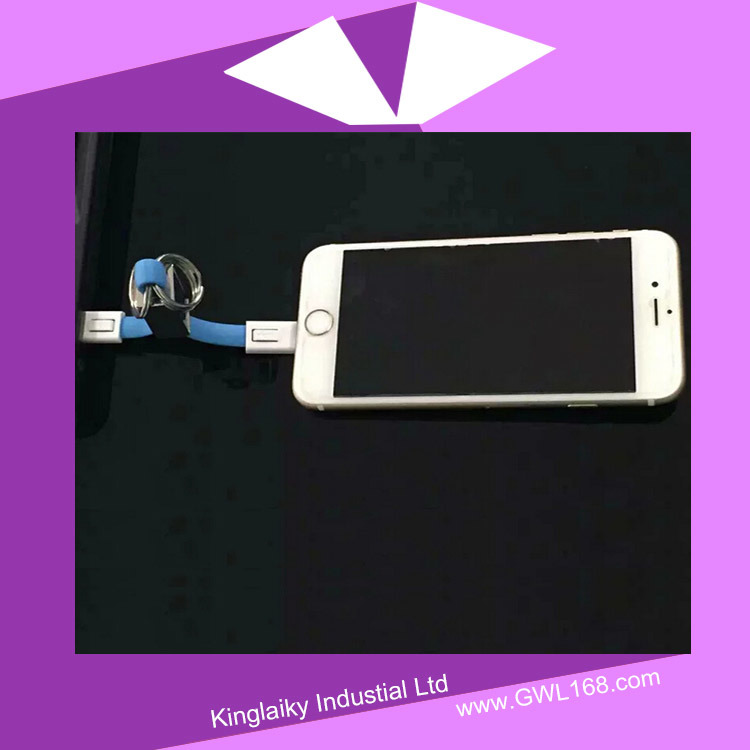 Colorful Mobile Data Cable with Keychain for Promotional Gift pictures & photos