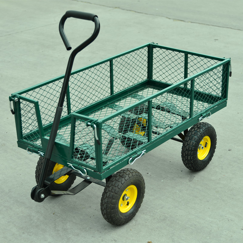 300kgs Capacity Steel Mesh Garden Tool Cart pictures & photos
