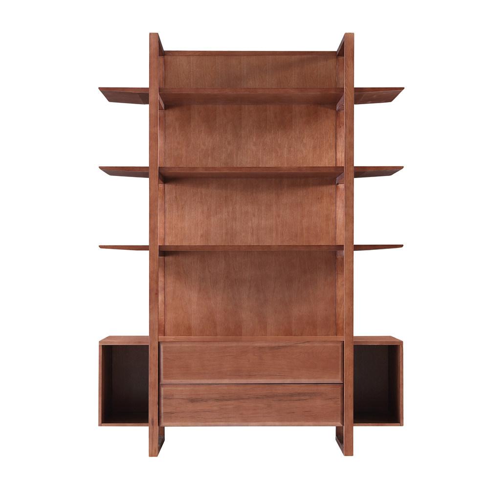 China Modern Bookcase Wooden Solid Wood Bookshelf China Soho