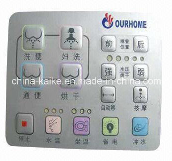 Embossed Membrane Control Switch with Push Button