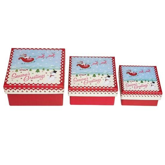 Hot Item 3 Sizes Christmas Gift Boxes Wholesale