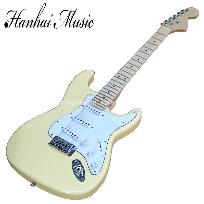 china hanhai music sale price milk white st style electric guitar china guitar electric guitar. Black Bedroom Furniture Sets. Home Design Ideas