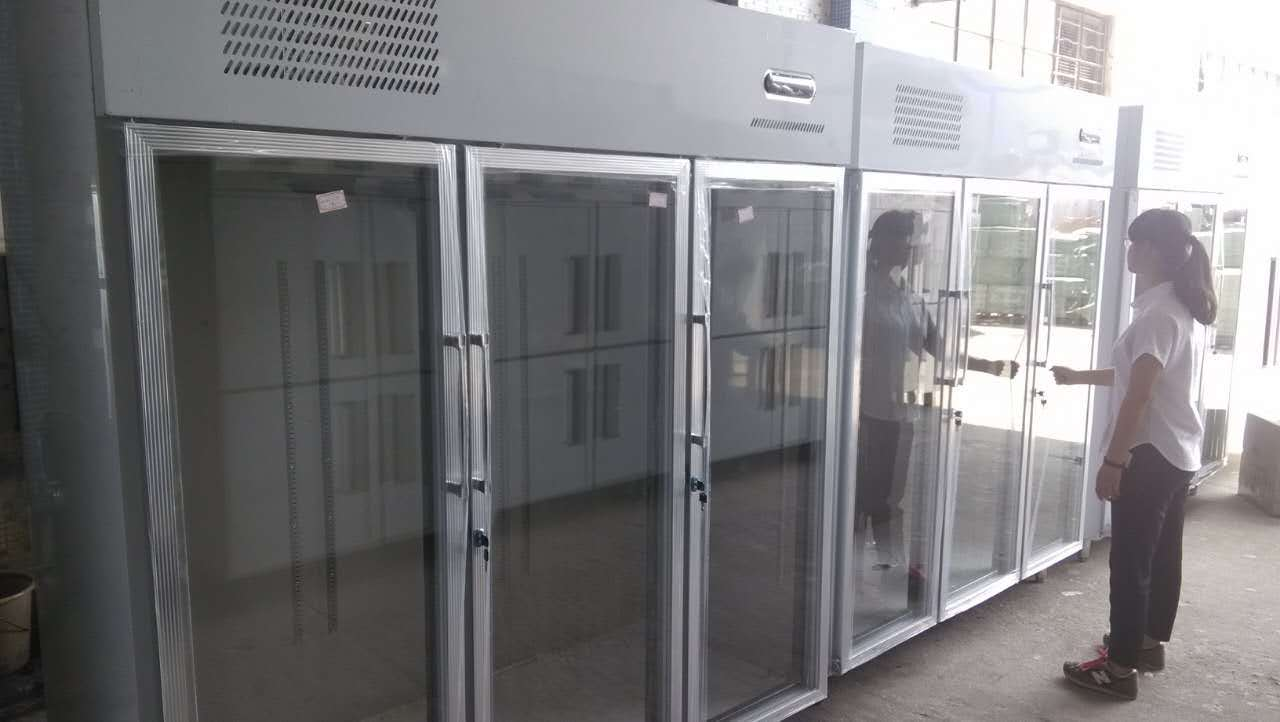 china cheering stainless steel commercial four dooor refrigerator