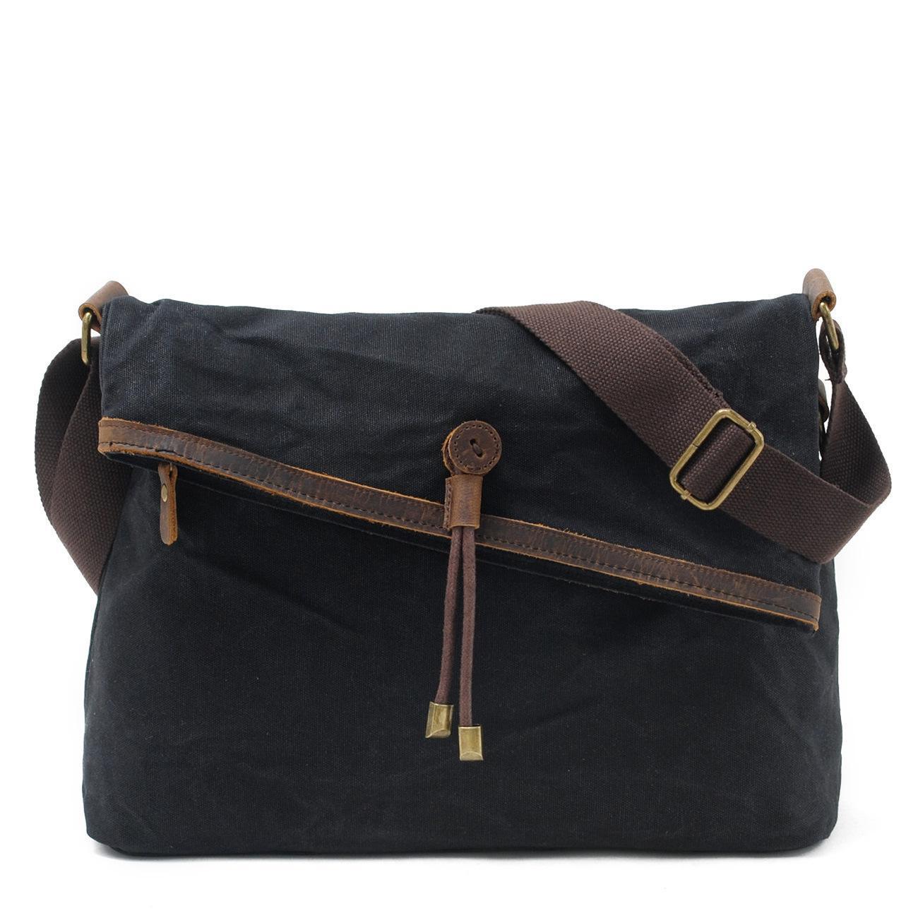 e562e347e5 Newest Design Black Color Waterproof Canvas School Satchel Bag (RS-9121-F)