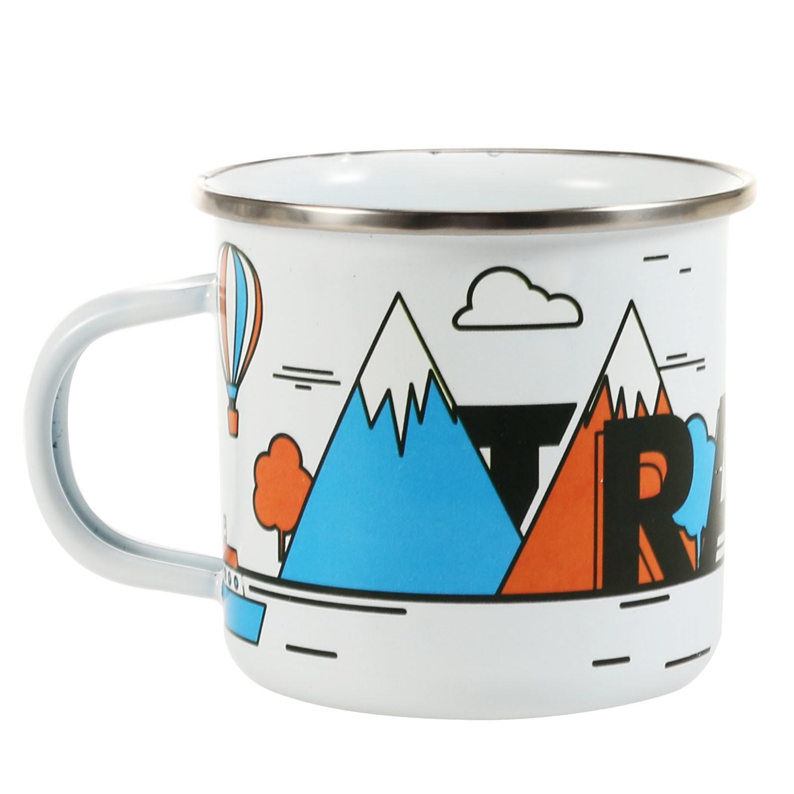 China Kitchenware Stainless Brim Custom Color Design Beverage Promotion Enamel Mug China Enamel Mug And Mug Price