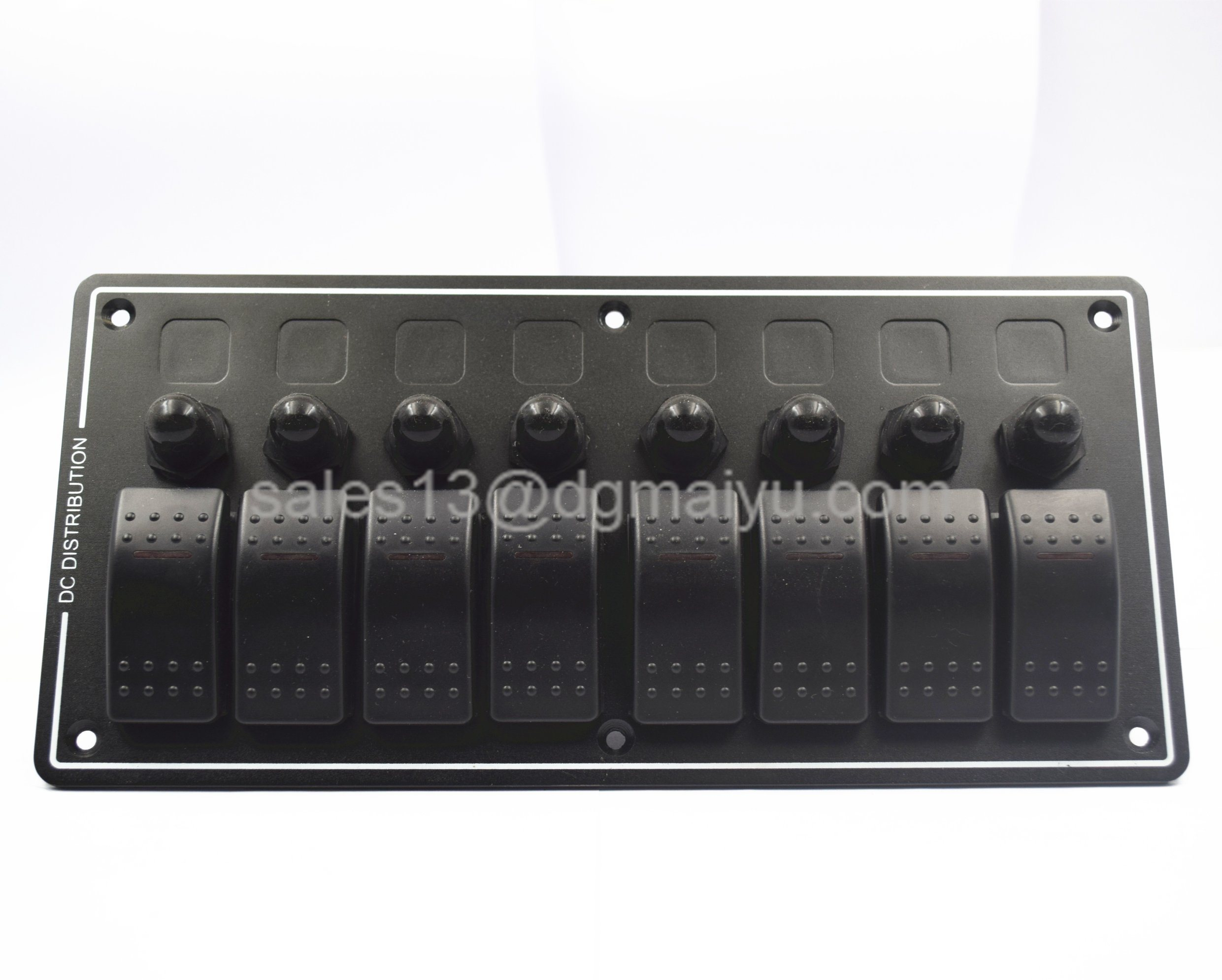 6 Gang Aluminium Car Marine Boat RV Circuit Rocker Switch Panel Breaker White