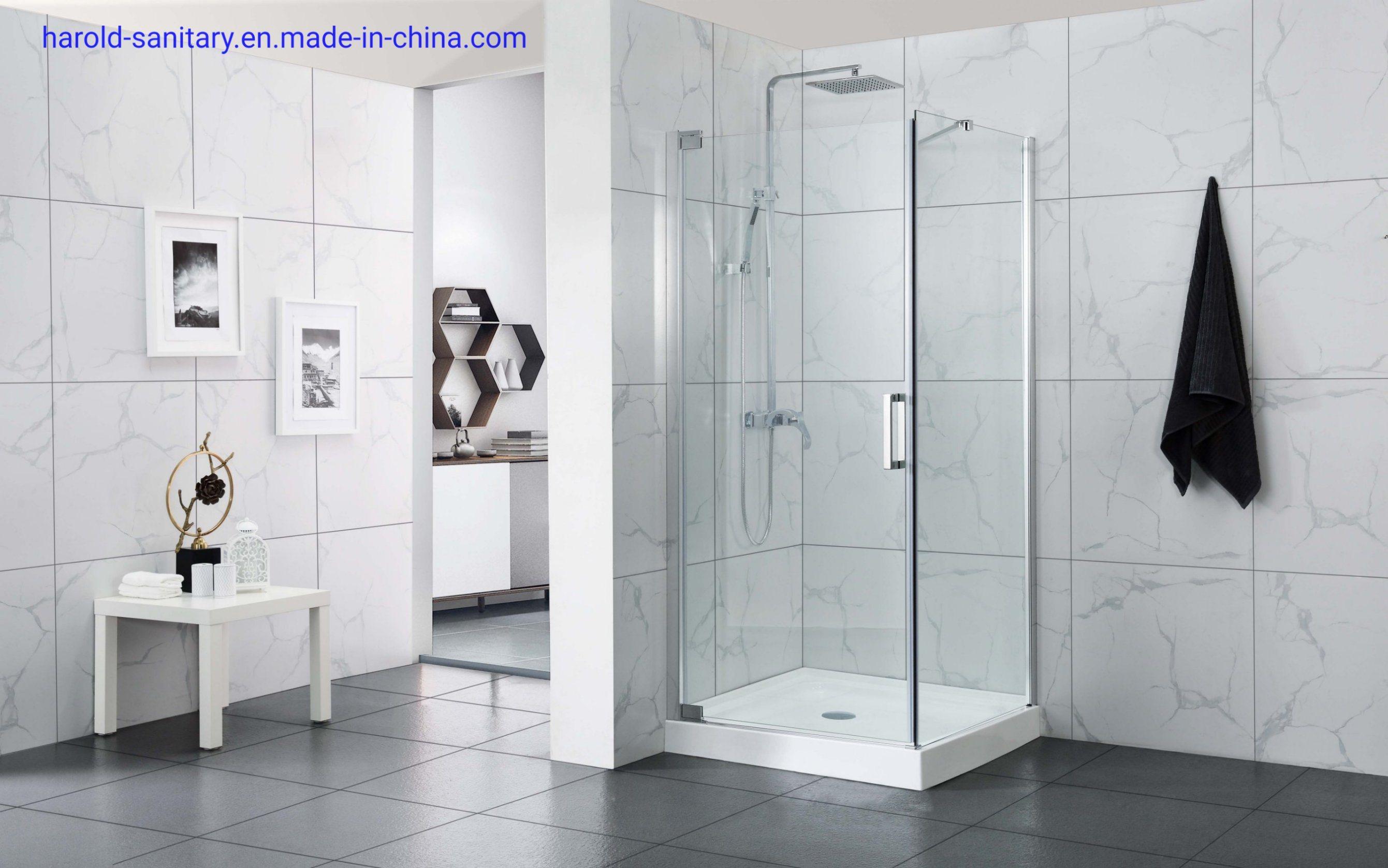 China Trends Black Pivot Hinge Shower Enclosure For Small