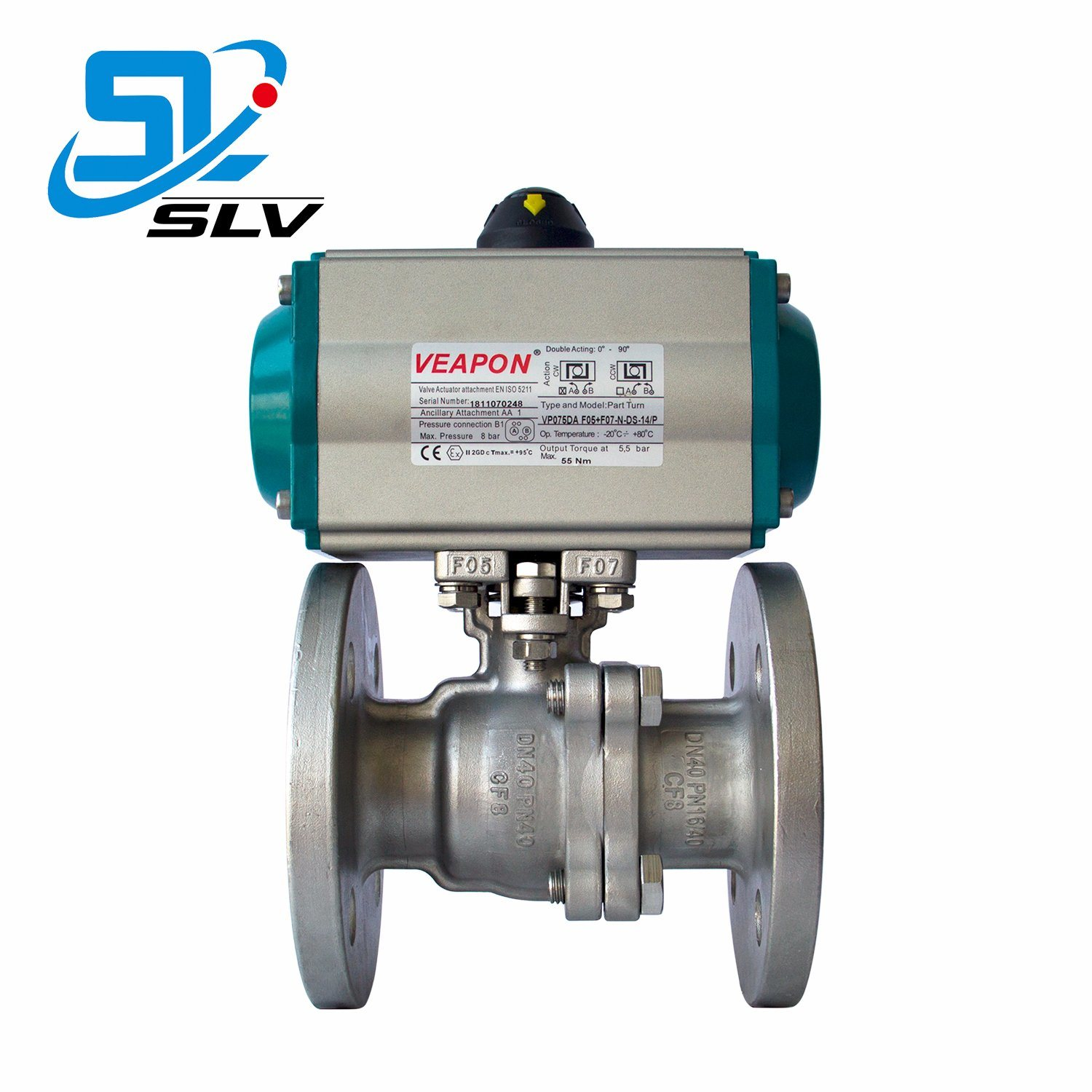 Pneumatic 1000 2000 Wog Class150 300 600 900 Hot Water 2 3 Way Stainless Steel Ball Valve pictures & photos