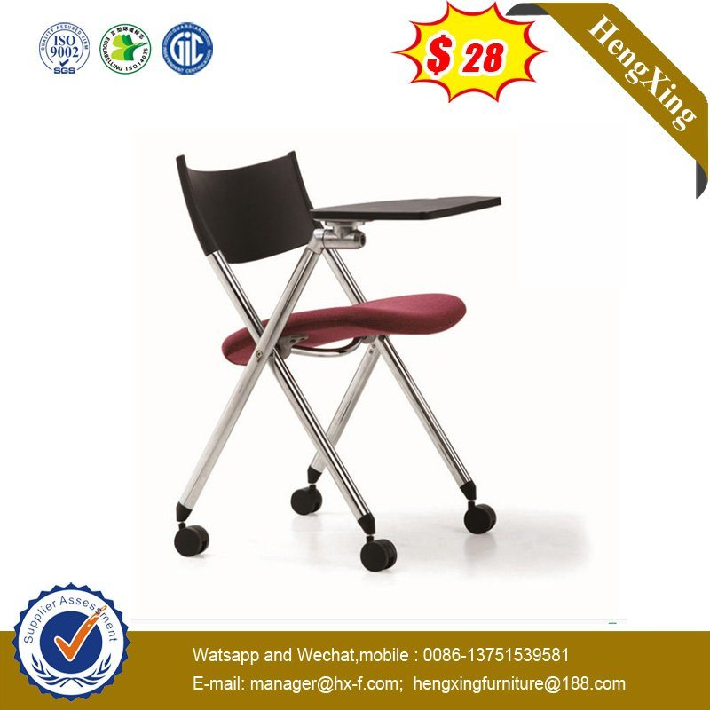 Modern Mesh Fabric School Conference Folding Chair with Writing Tablet pictures & photos