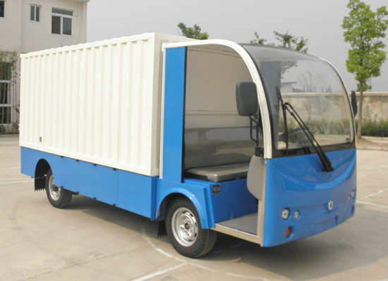 China Car Cargo 2 Seats Small Goods Delivery Electric Truck Electrical Vehicle