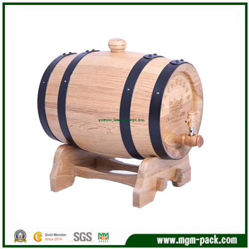 Custom Gift Wooden Box for Package/Wine Box/Wine Barrel