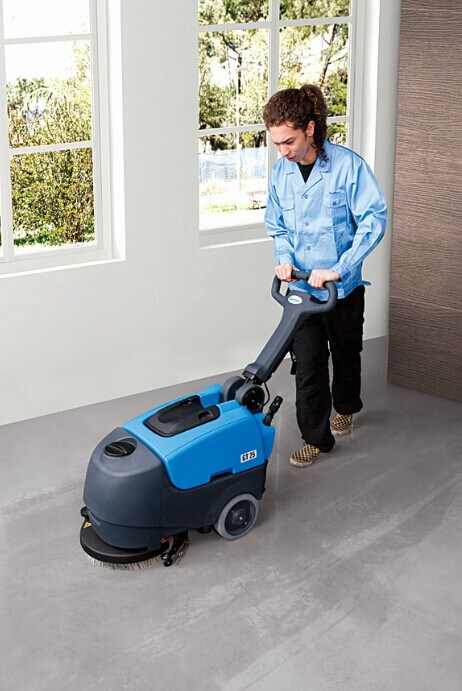Commercial Automatic Compact Foldable Walk-Behind Cleaning Machine Scrubber Dryer with Cable