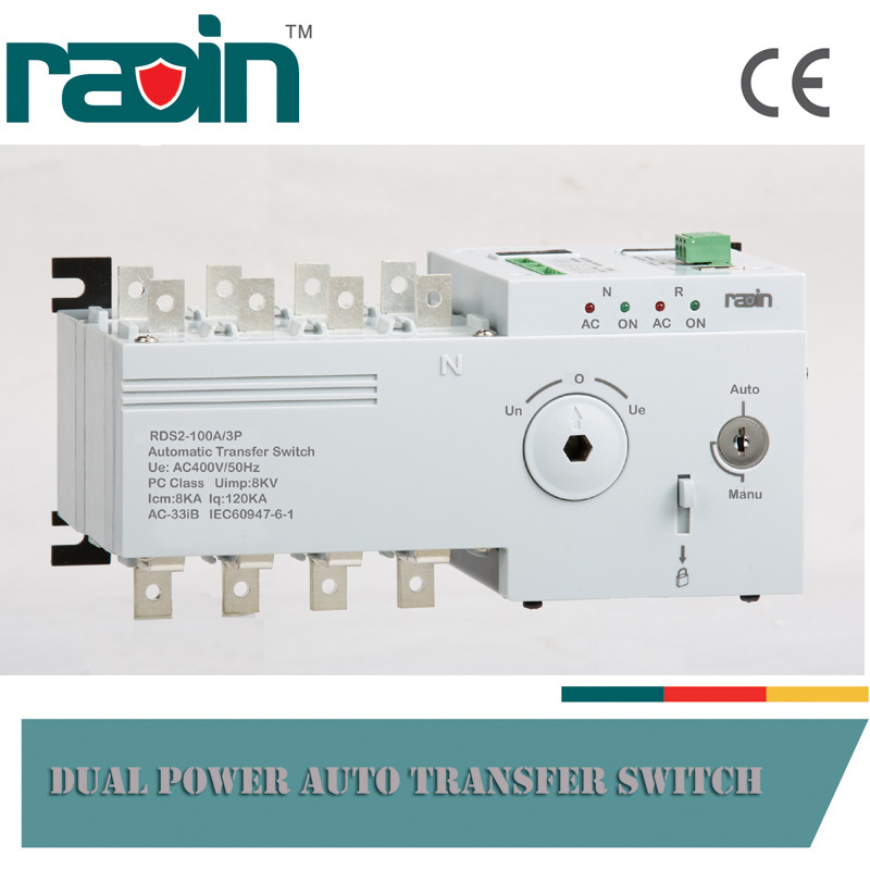 China RDS2-100A New Type Dual Power Automatic Transfer Switch ...