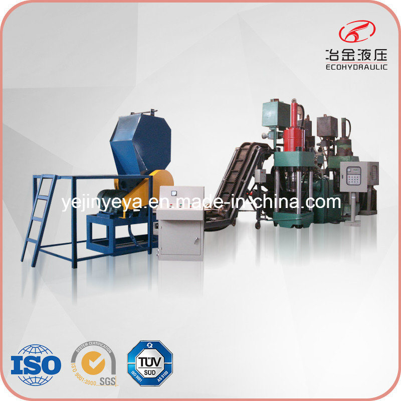 Automatic Aluminum Scrap Briquetting Press Line with ISO