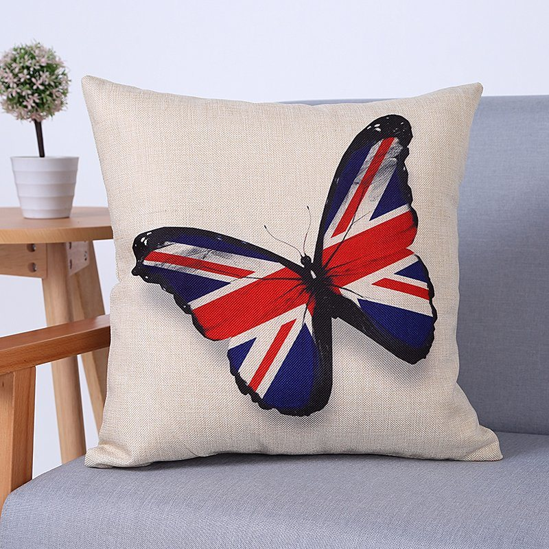 Digital Print Decorative Cushion/Pillow with Butterfly Pattern (MX-81)
