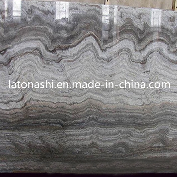 China Natural Silver Grey Stone Travertine Tile For Flooring