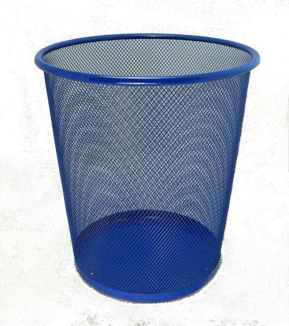 China Middle Size Metal Wire Mesh Waste Paper Basket, Waste Bin ...