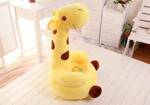 Giraffe Childrenu2032s Chair, Plush Soft Chair Seat For Kids