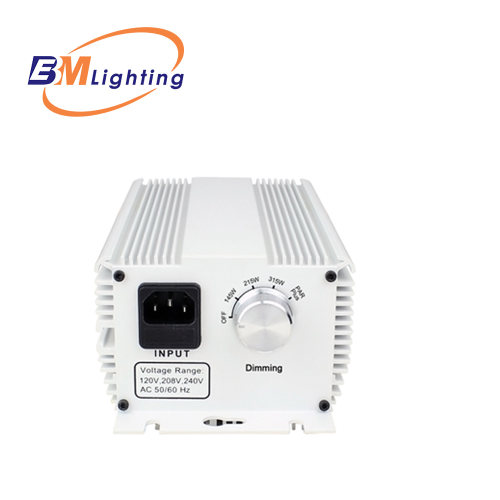 China Low Frequency Square Wave Soft Start Cmh 315w Grow Light For Power Supply Ballast Hydroponic Systems