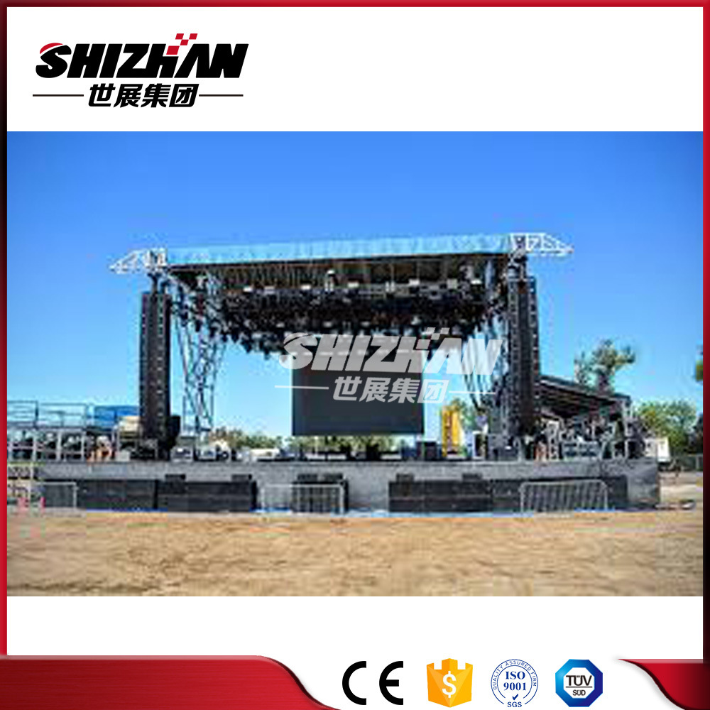 diy portable stage small stage lighting truss. China Factory Price Aluminum Portable Outdoor Stage Roof Truss - DJ Truss, Square Diy Small Lighting