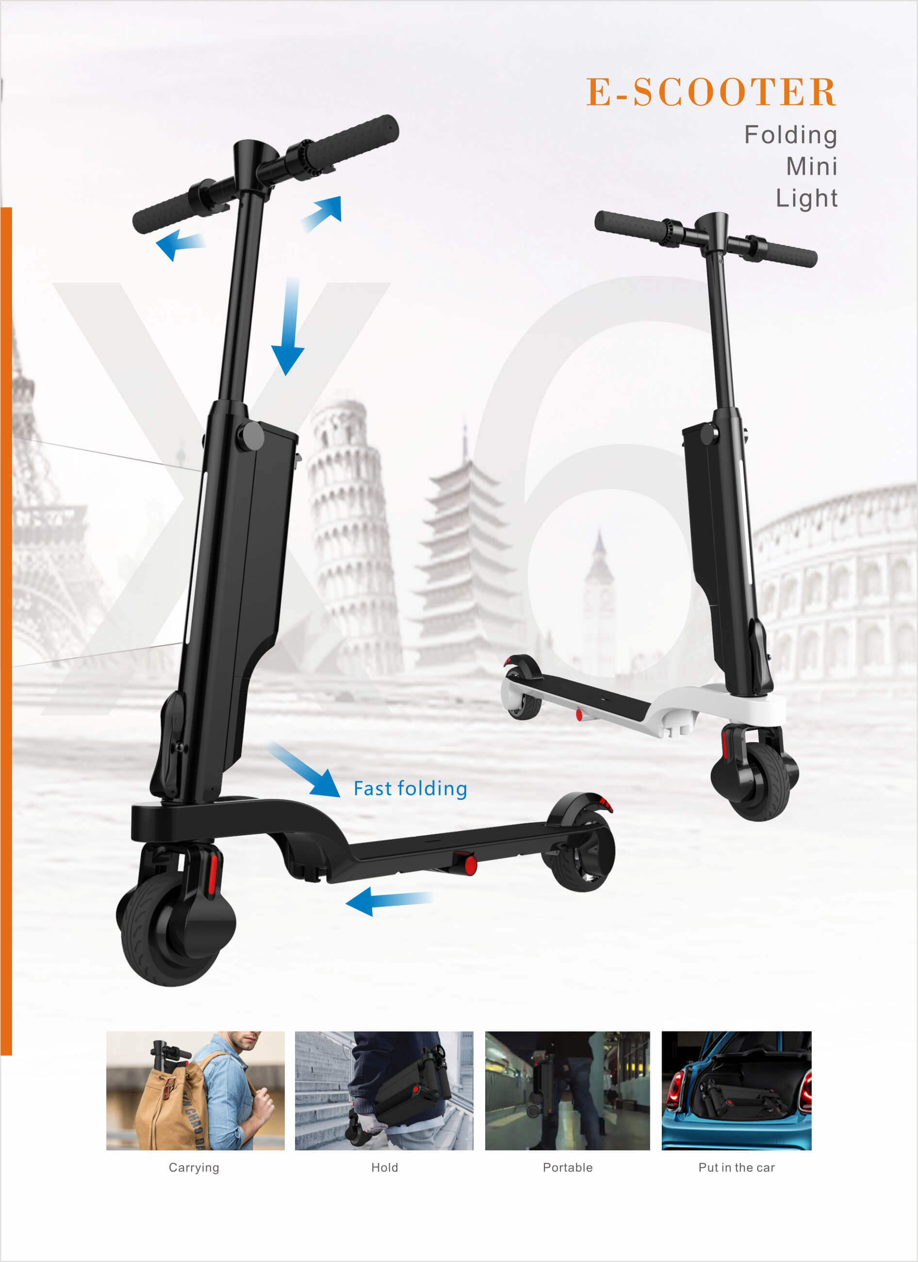 154df7bdfff3 [Hot Item] Health and Leisure Folding Smart Electric Scooter, Backpack  Scooter