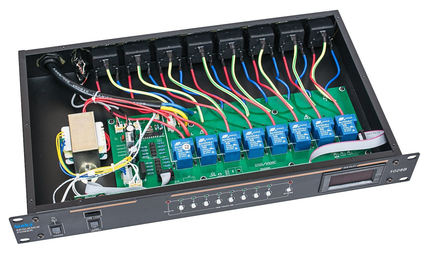 China 8 Channels Power Supply Sequencer Controller 1028b Electrical Wiring Audio Processor