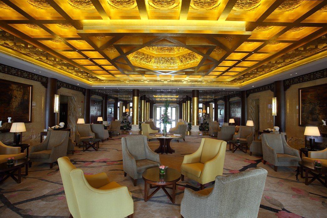Deluxe Reception Desk Hotel Furniture 5 Star Luxury Lobby Design Hall Customized