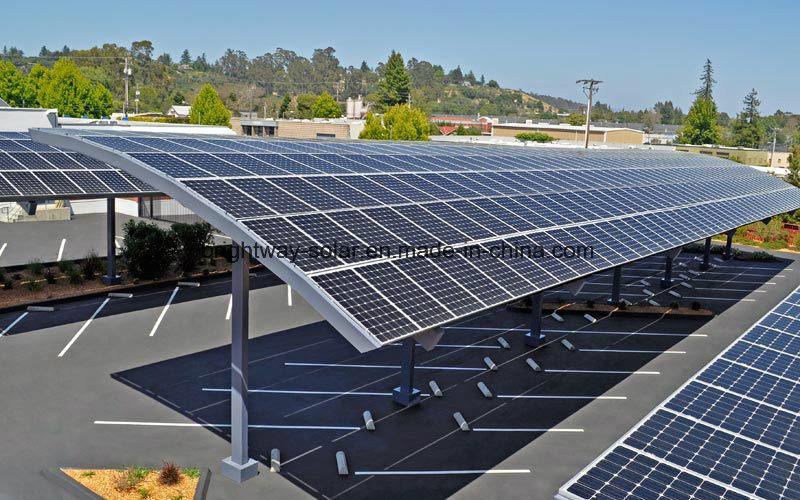 China Solar Panel Car Parking Shades Solar Carport Pv