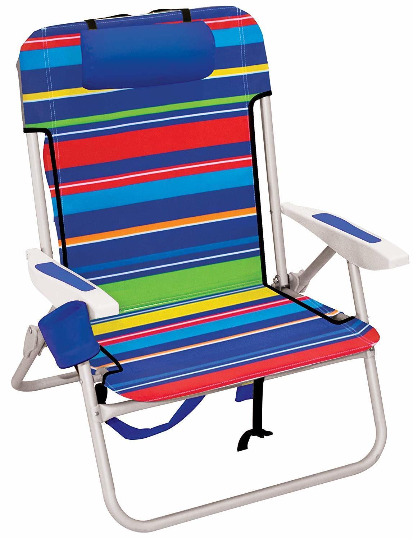 Hot Item Beach 17 Extended Height 4 Position Folding Beach Chair