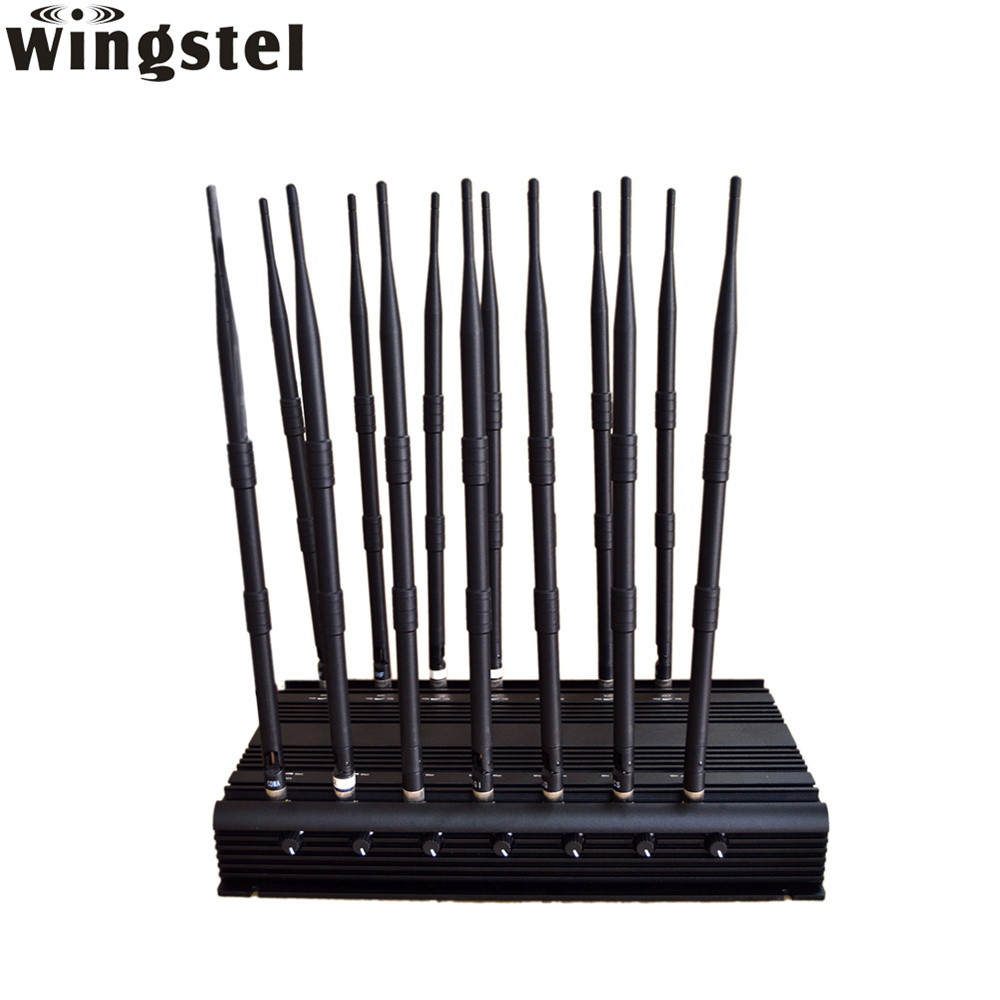 Cell Phone Jammer >> China Indoor Use 14 Antennas Wifi Gps Gsm Cell Phone Jammer China